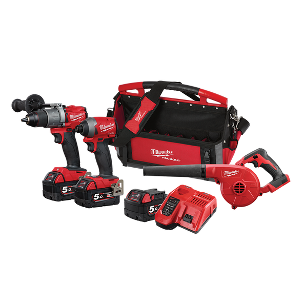 Milwaukee M18FPP3f2503P 18v 5ah Fuel Gen 3 Cordless Combo Kit-3pce