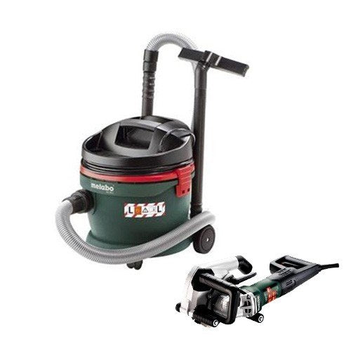 Metabo 1900W MFE 40 Wall Chaser and 1200W ASA 32L Vacuum Cleaner AU60010050