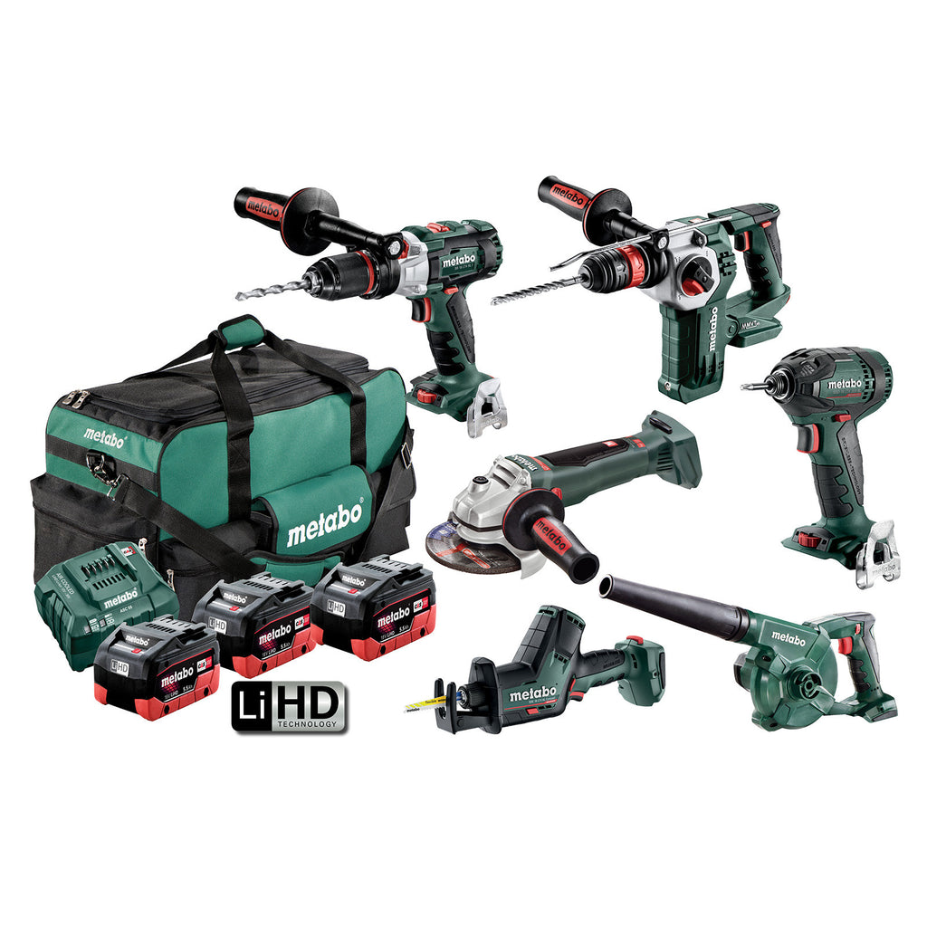 Metabo 18V 6 Piece Brushless Combo 5.5Ah Set AU68600050