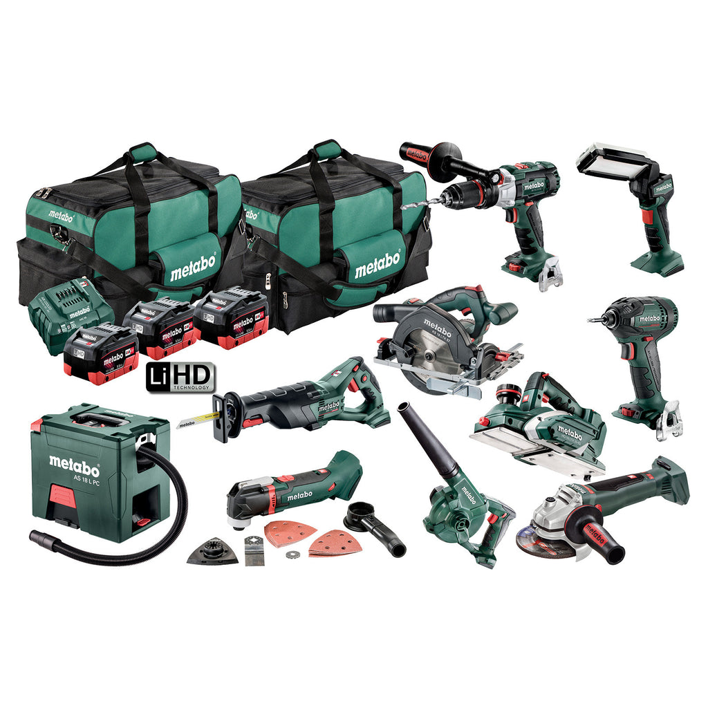 Metabo 18V 10 Piece Combo 5.5Ah Set AU69000090