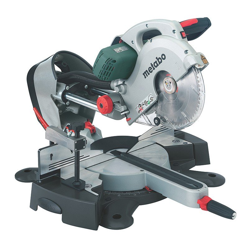 Metabo 2000W 254mm Sliding Compound Mitre Saw KGS 254 Plus 0102540300