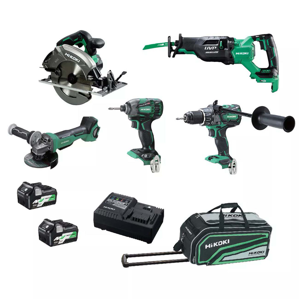 HiKOKI 5 Piece MultiVolt Combination Pack KC36D5P(HRZ)