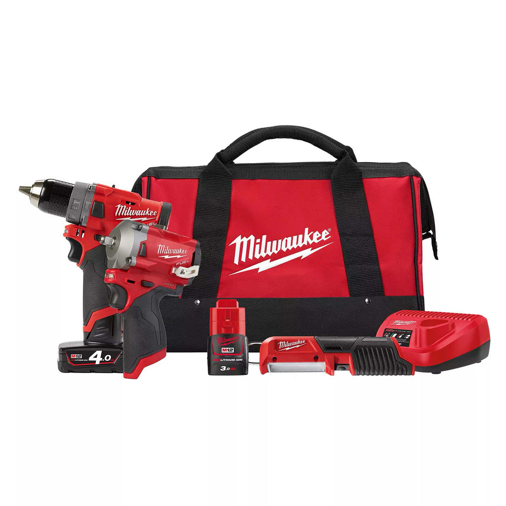 Milwaukee 12V FUEL 3 Piece Power Pack 3P M12FPP3P-432B