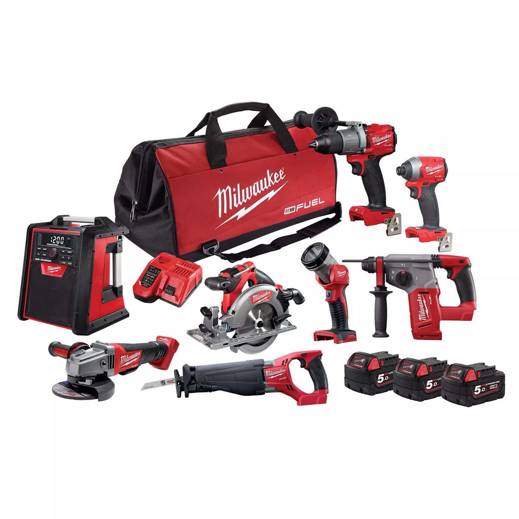 Milwaukee 18V Fuel GEN III 8 Piece 5.0Ah Power Pack M18FPP8A2-503B