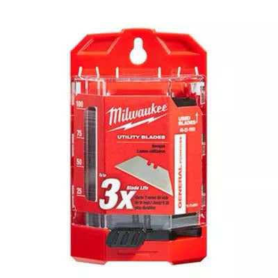 Milwaukee 100 Pack General Purpose Utility Blades W/ Dispenser 48221900