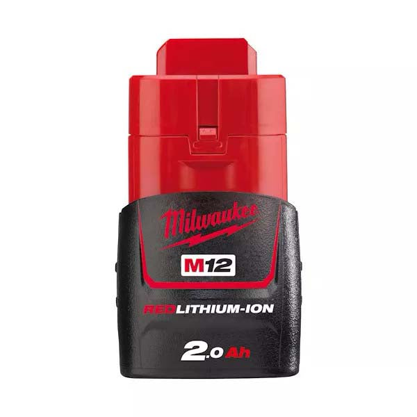 Milwaukee 12V 2.0Ah Red Lithium Ion Battery M12B2