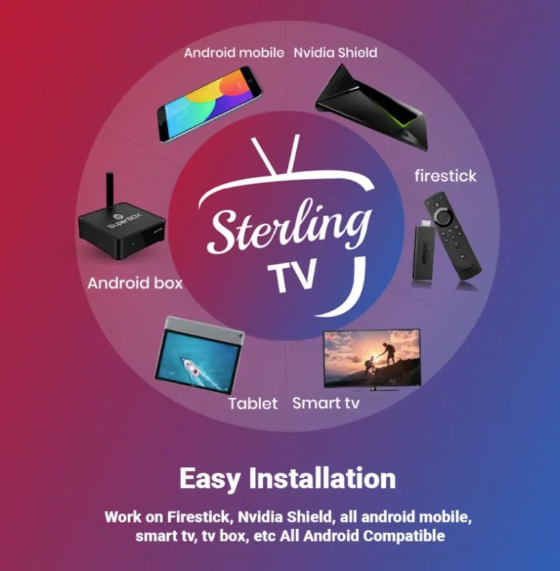 Sterling TV 12 months subscription UK US CANADA  with free airmouse