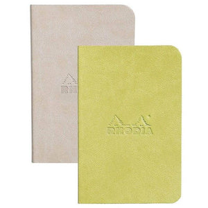 Set Of 2 Mini Notebooks Beige+Anise, LINED