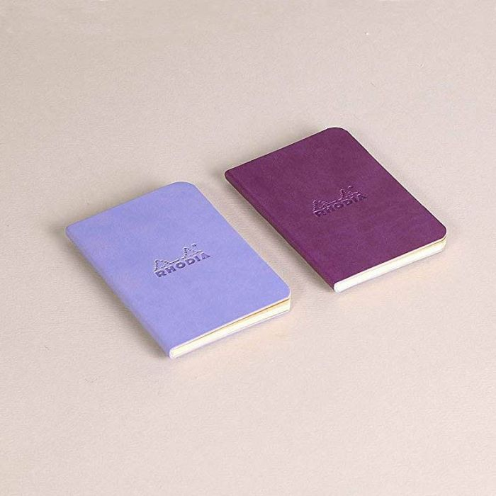 Set Of 2 Mini Notebooks Iris+Purple, LINED