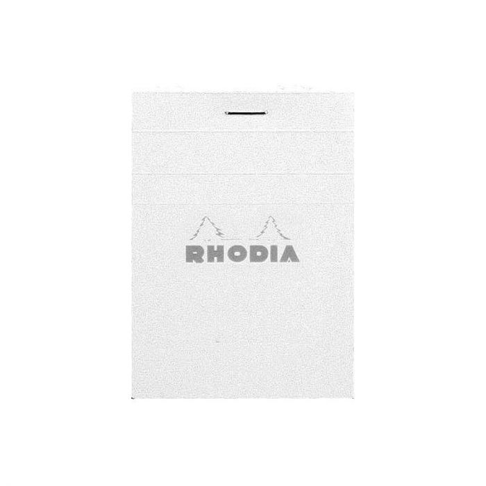 Rhodia N°11 Stapled Ice White Pad. LINED