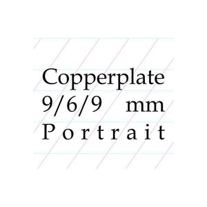 9/6/9 Copperplate, Spencerian – A4 Paper Pad (Portrait)