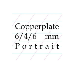 6/4/6 Copperplate, Spencerian – A4 Paper Pad (Portrait)