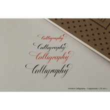 Load image into Gallery viewer, 1,25 mm Copperplate, Spencerian – A4 Paper Pad (Landscape)