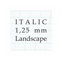 Load image into Gallery viewer, 1,25 mm Italic – A4 Paper Pad (Landscape)