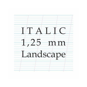 1,25 mm Italic – A4 Paper Pad (Landscape)