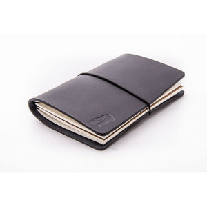 Traveler Notebook Black Leather/Black Rubber