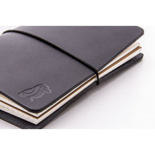 Load image into Gallery viewer, Traveler Notebook Black Leather/Black Rubber