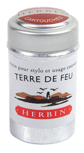 Herbin Ink 6 Cartridges Terre De Feu