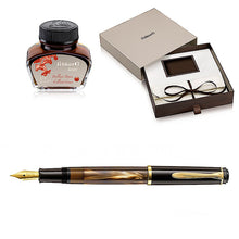 Load image into Gallery viewer, Pelikan Classic M200 Brown Marbled, EF Tip -Special Set Box-