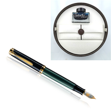 Load image into Gallery viewer, Pelikan Souverän M400 Black-Green, EF Tip -Special Set Box-