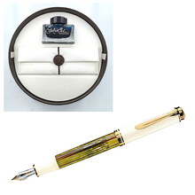 Load image into Gallery viewer, Pelikan Souverän M400 Tortoiseshell White, EF Tip -Special Set Box-