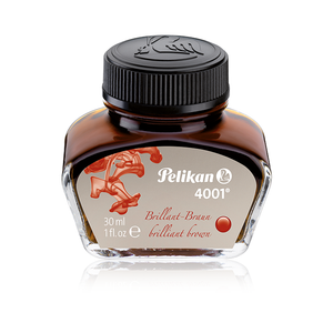 Pelikan 4001 Ink Bottle, Brilliant Brown