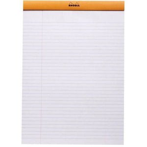 Rhodia N°16 Stapled Pad Orange. LINED