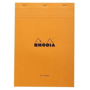 Rhodia N°19 Staplebound Pad Orange. BLANK