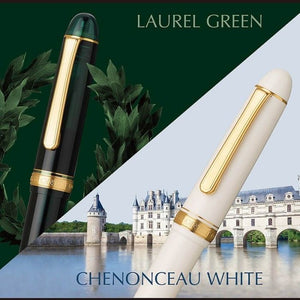 Platinum 3776 Century Laurel Green/Gold, F Tip