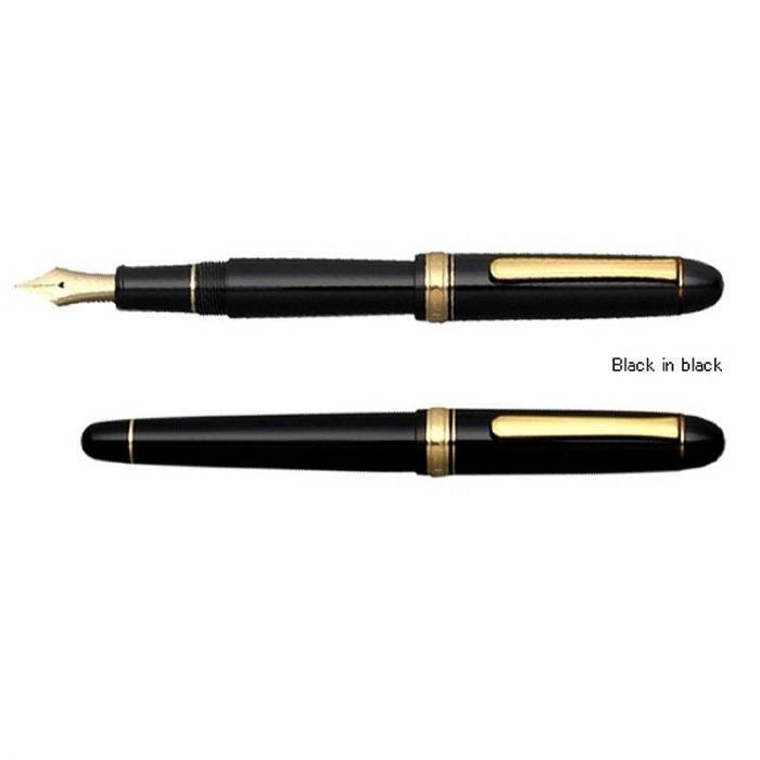 Platinum 3776 Century Black/Gold, Soft F Tip