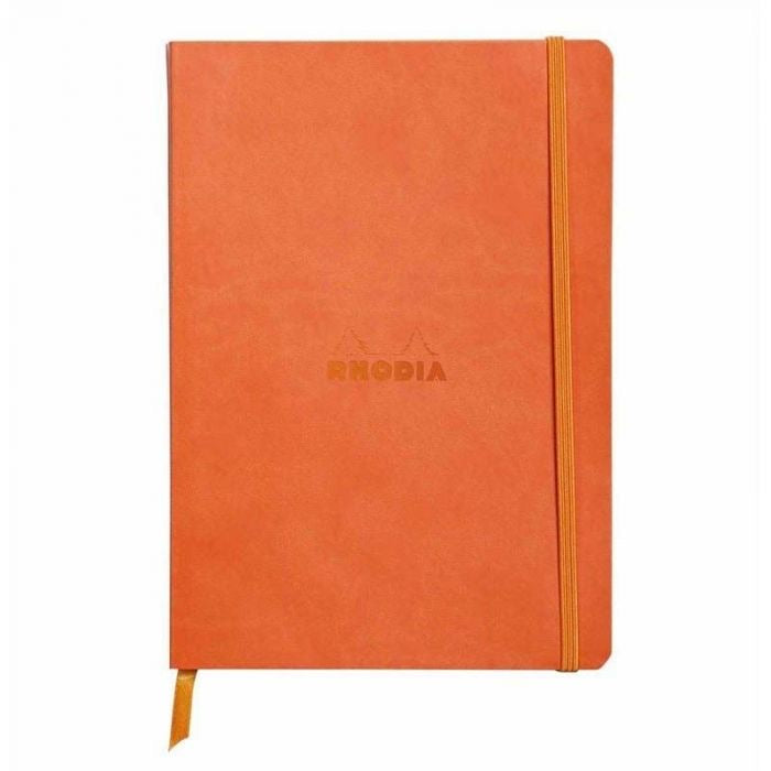 Rhodia A5 Notebook Tangerine, LINED