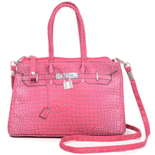 Load image into Gallery viewer, Trompe L'oeil Croco Crossbody