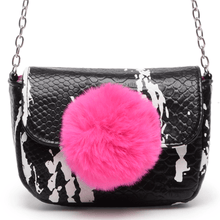 Load image into Gallery viewer, Fur Ball Mini Crossbody(Black)