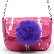 Load image into Gallery viewer, Fur Ball Mini Crossbody(Pink)