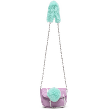 Load image into Gallery viewer, Fur Ball Mini Crossbody(Purple)