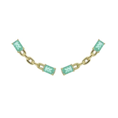 Chain Lovers Duo Comet in 18K Yellow Gold and 1,47Ct Emeralds