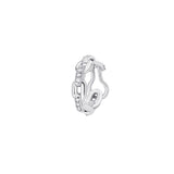 Chain Lovers Piercing in 18K White Gold and 0,07Ct Diamonds