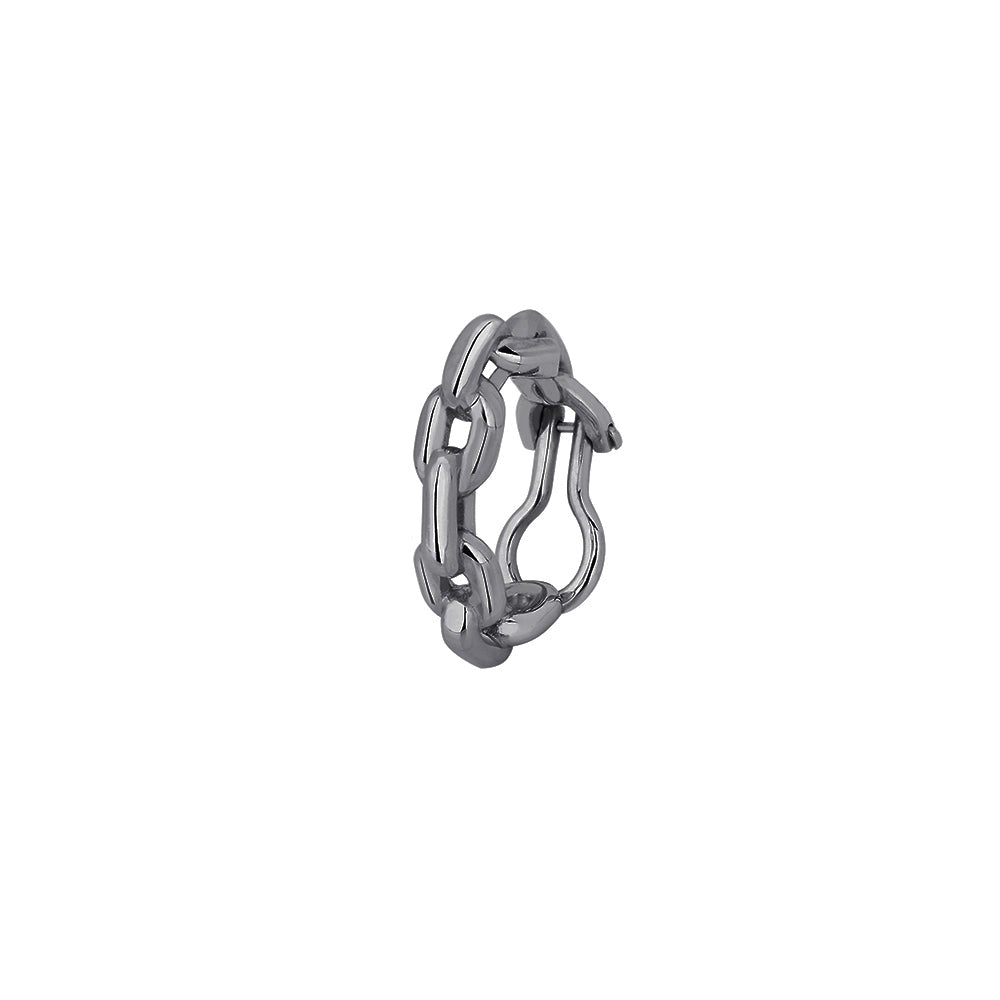 Chain Piercing in Black Rhodium Plated Silver