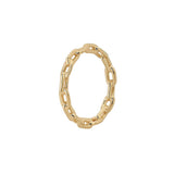 Chain Ring With 18K Yellow Gold Plated Silver