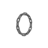 Chain Ring With Black Rhodium Plated Silver