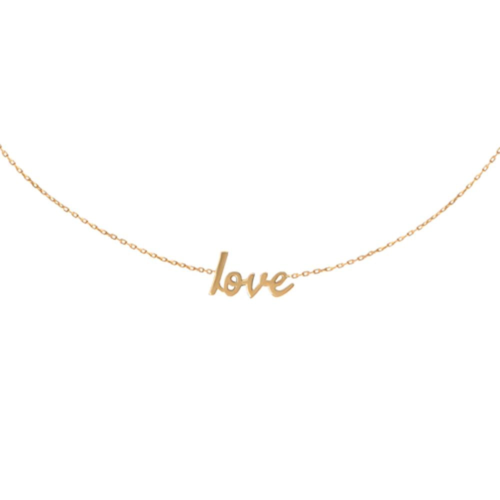 Choker Love With 18K Yellow Gold