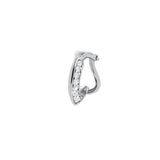 Clip - On Ear Cuff Style With 18K White Gold And Diamonds 0,10Ct
