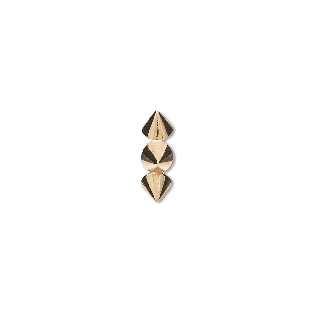 Clip-On Spike Ear Cuff With Rose Gold 18K