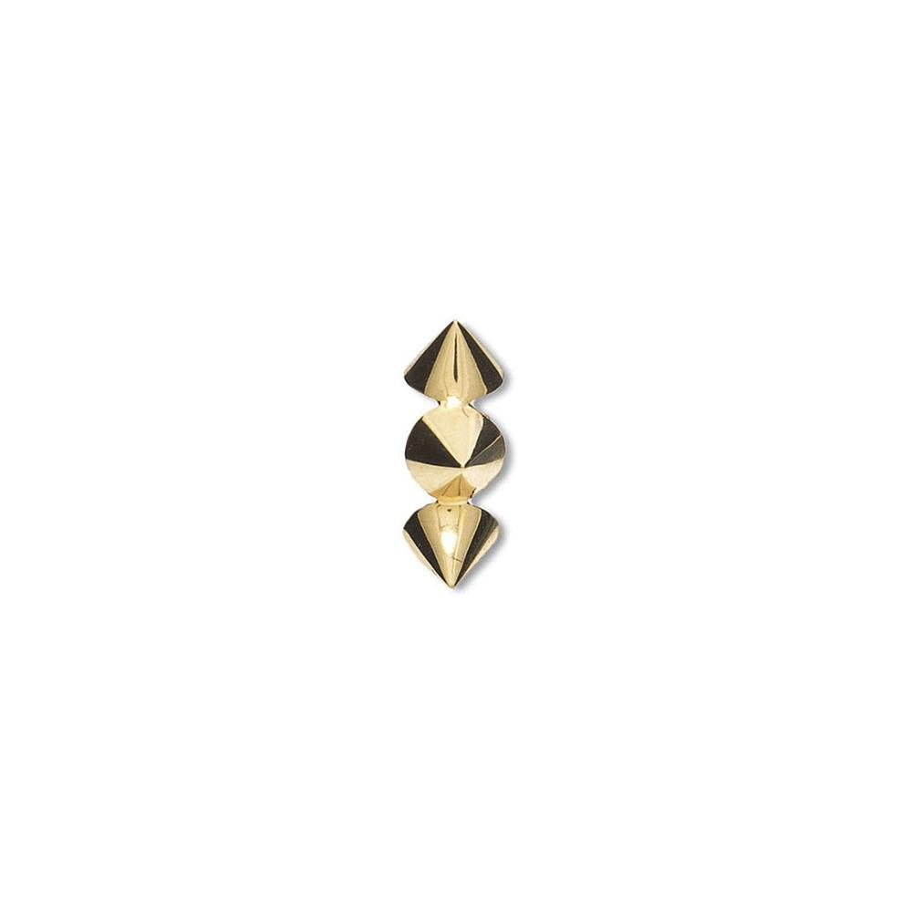 Clip-On Spike Ear Cuff With Yellow Gold 18K