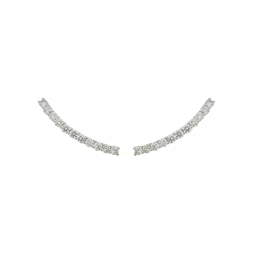 Comet Earring With 18K White Gold and 1,57Ct Diamonds