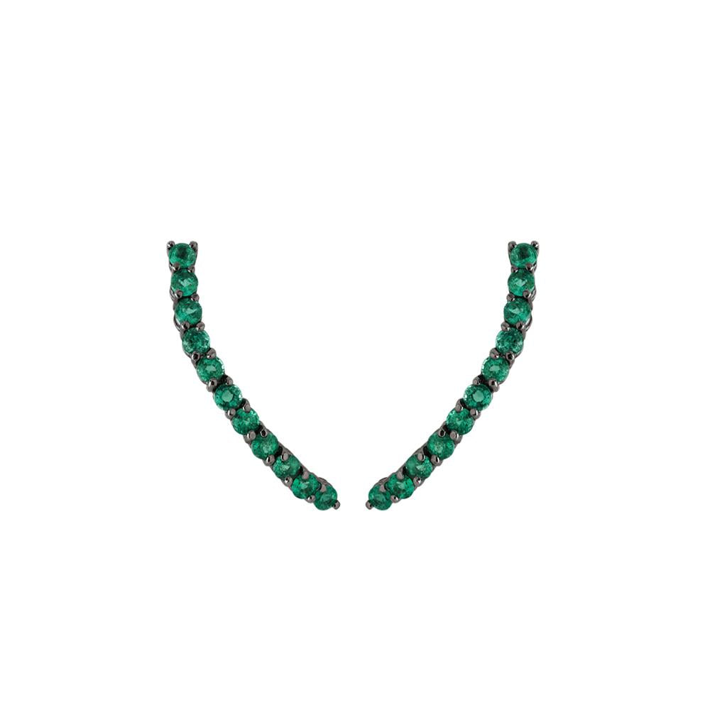 Comet Earring With White Gold 18K With Emeralds 1,38Ct