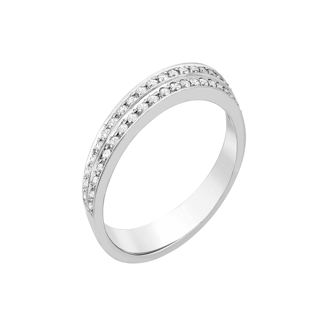 Deco Ring 18K White Gold and 0,40Ct Diamonds