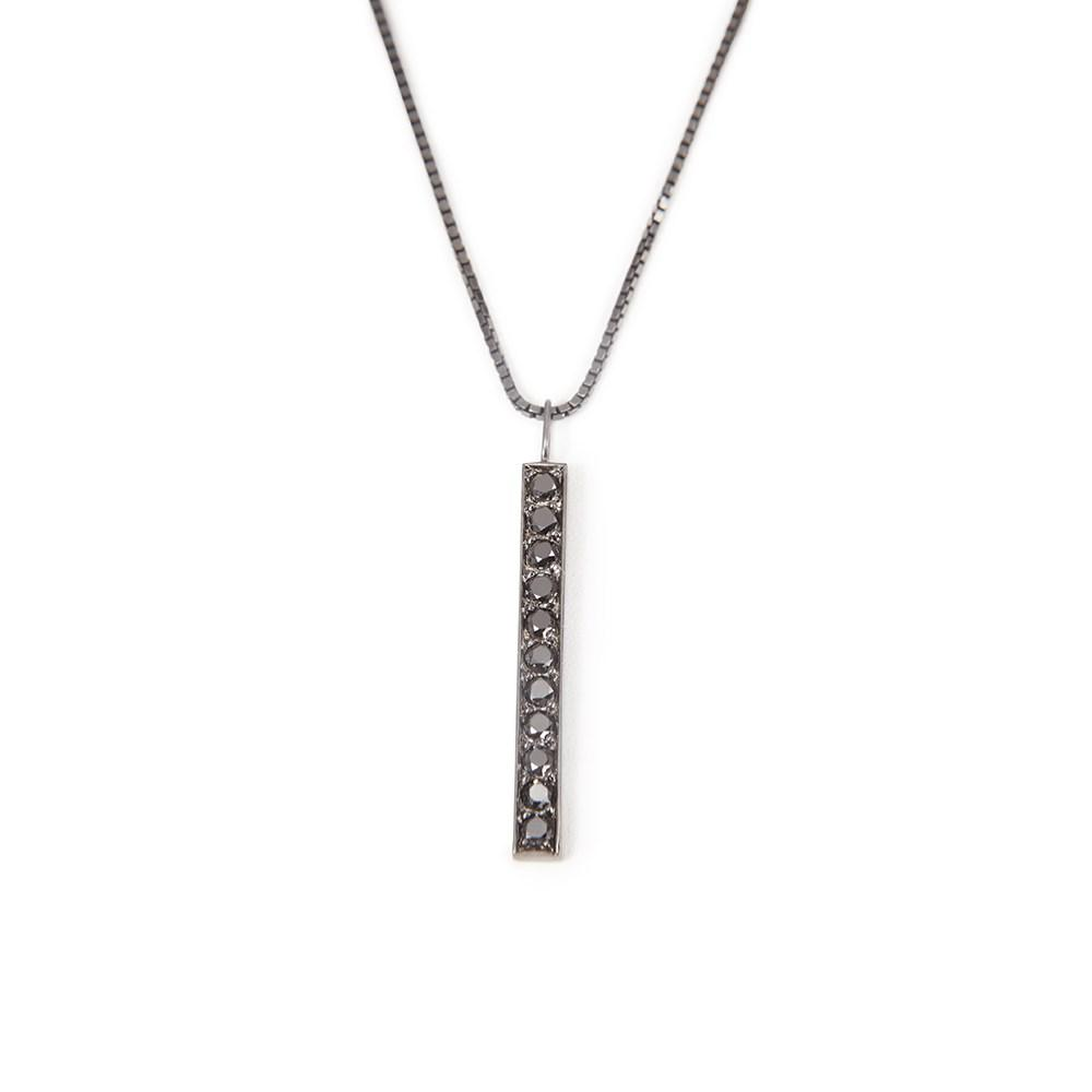 Diamond Necklace With Necklace In Silver With Black Diamonds 1,00Ct