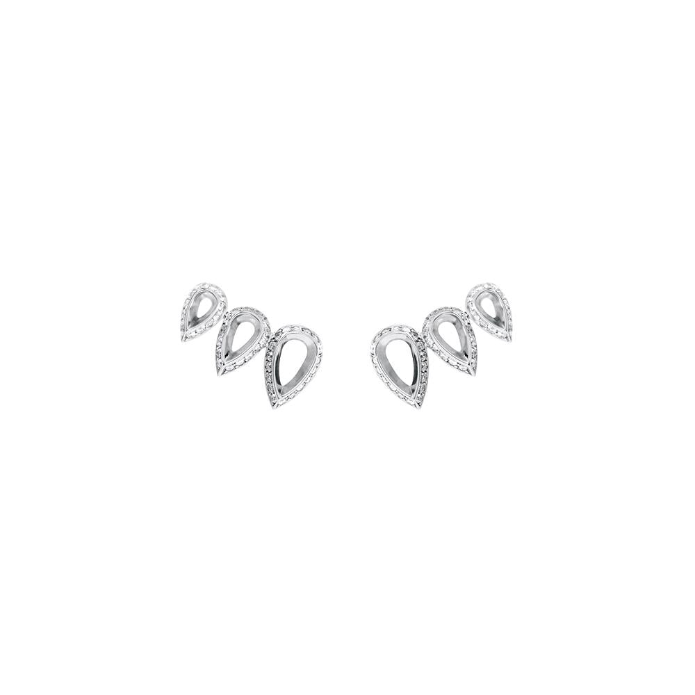 Drop Comet Earrings With 18K White Gold And Diamonds 0,90Ct