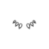 Drop Comet Earrings With 18K White Gold With Black Rhodium And Light Light Brown Diamonds 0,90Ct